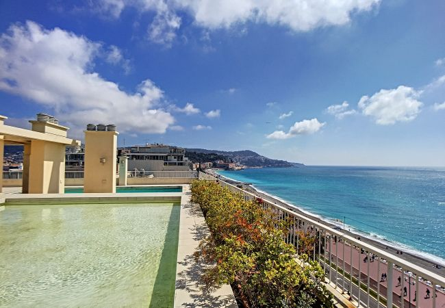 Apartment in Nice - N&J - SUITE ROYAL LUXEMBOURG - Central - Swimming pool on rooftop