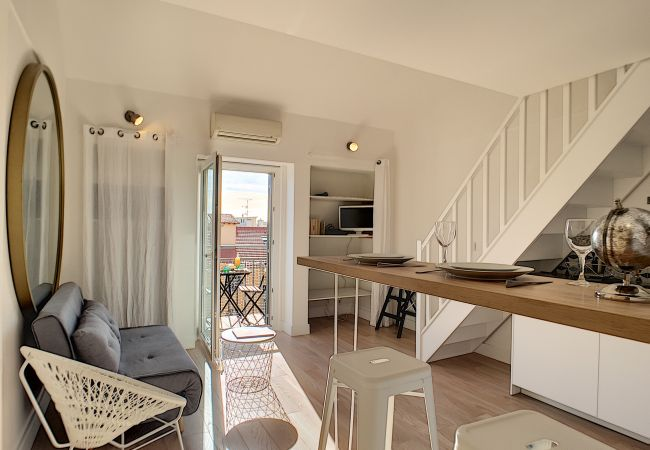 Apartment in Nice - N&J  - DUPLEX MIROIR - Hyper center - Close sea - Top floor
