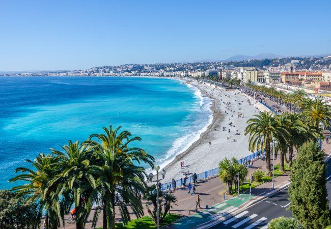 Studio in Nice - N&J - BLUE OCEAN - Central -  Very close beaches - Sea view