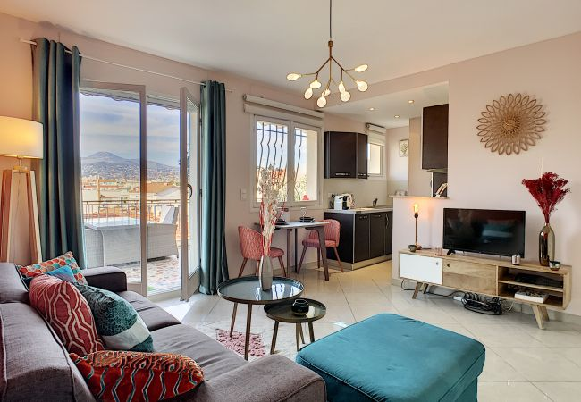 Apartment in Nice - New! N&J - CORAL SEA TERRACE - Central - Very close sea