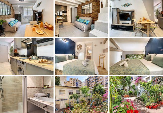 Apartment in Nice - New! N&J - SECRET BEACH DUPLEX - Very close sea - Atypical