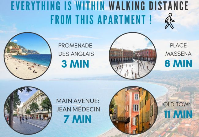 Appartement à Nice - N&J - LUGIA - Central - Proche mer - Famille