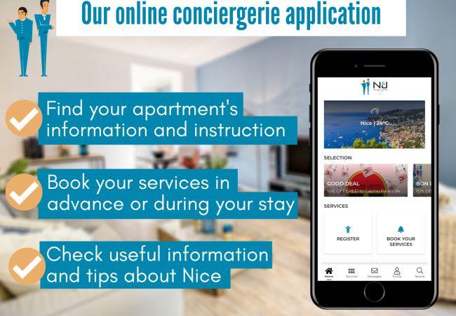 Appartement à Nice - N&J - SQUARE ROYAL TERRASSE - Central - Accès direct mer