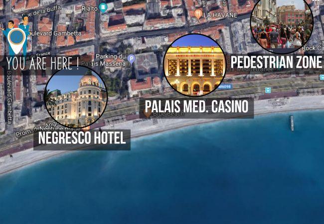 Appartement à Nice - N&J - FRESCO - Central - Proche mer - Parking gratuit