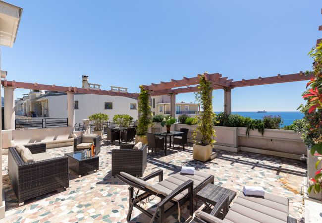 Appartement à Nice - N&J - SEA VIEW TERRACE PENTHOUSE - Terrasse 70m² - Parking gratuit
