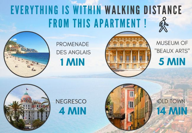 Appartement à Nice - N&J - CACTUS TERRASSE - Central - Très proche mer