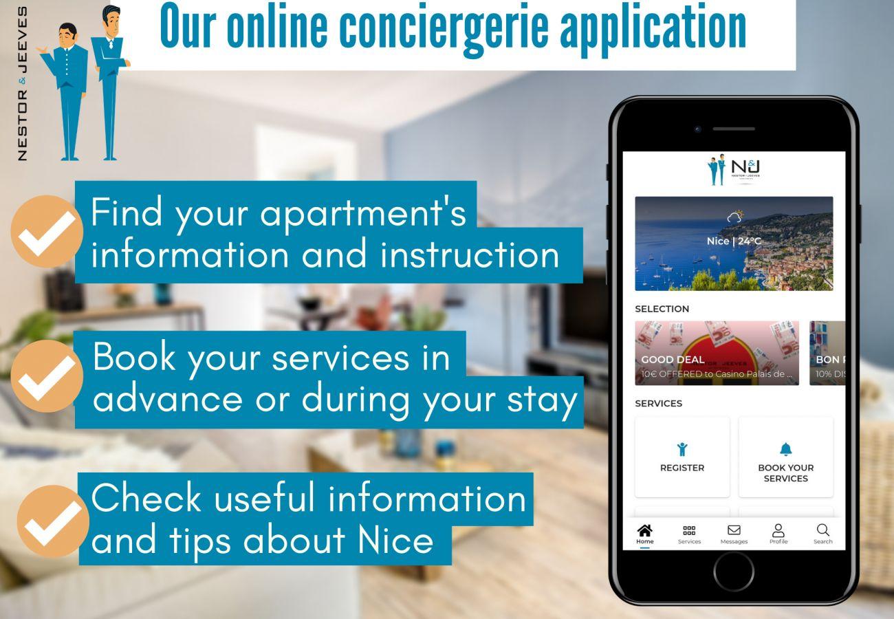 Appartement à Nice - N&J - PALAIS ARNULF - Central - Très proche mer