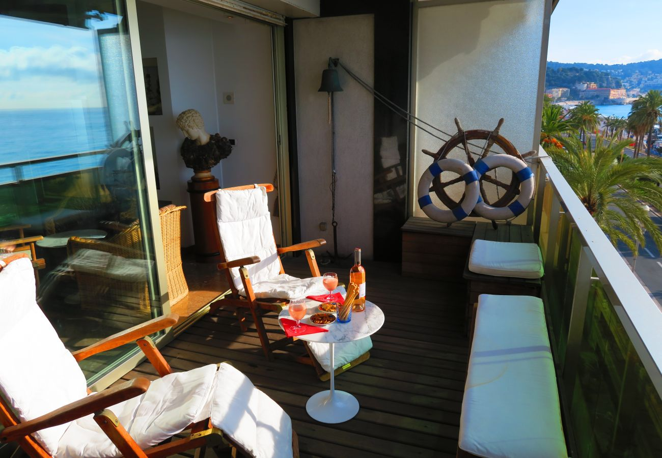 Appartement à Nice - N&J - LE BATEAU DU ROYAL LUXEMBOURG - Central - Front mer