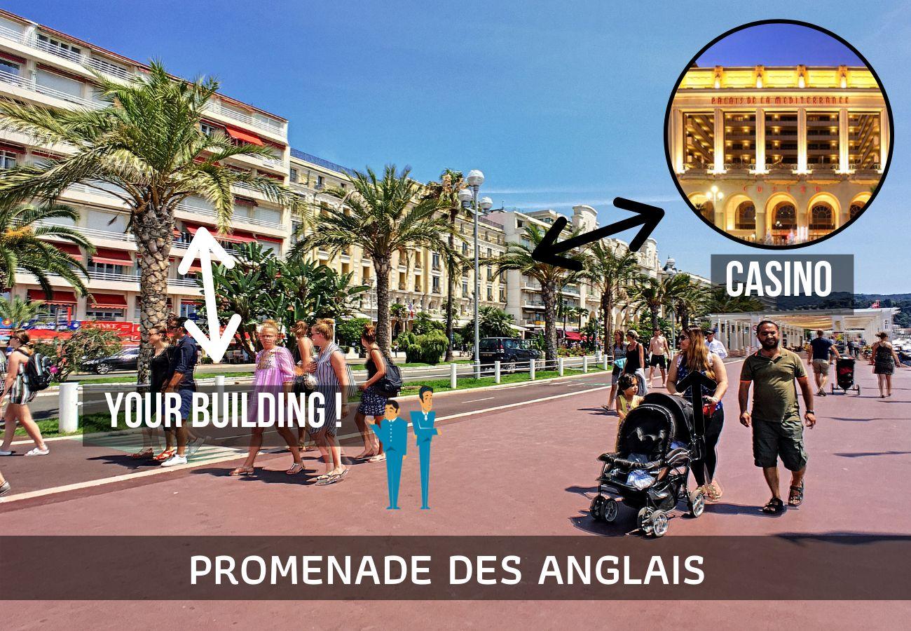 Appartement à Nice - N&J  - LAGOON PROMENADE - Central - Face mer
