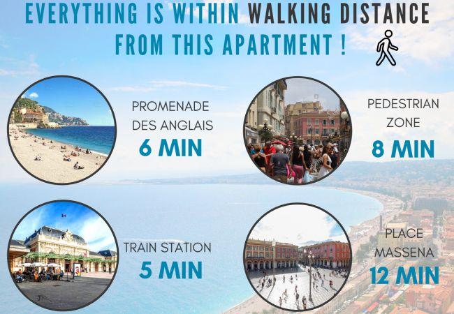 Appartement à Nice - N&J - ORIGAMI VERDI - Central - Proche mer