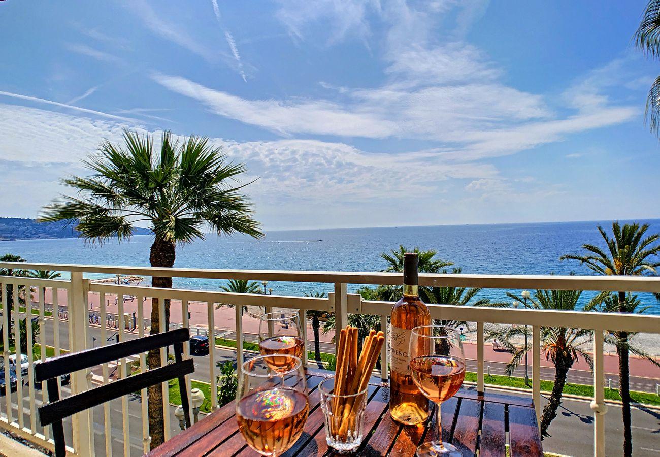 Appartement à Nice - N&J  - OCEAN PROMENADE - Terrasse avec vue mer - Spacieux