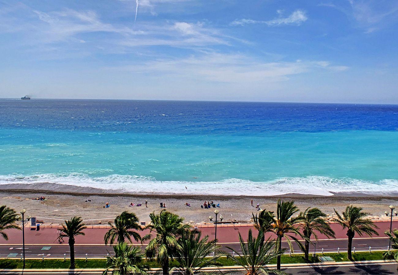 Appartement à Nice - Nouveau! N&J  - PARADISE PROMENADE - Terrasse 20m² avec vue mer - Dernier étage